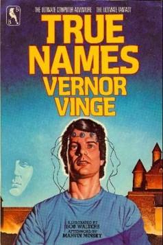 """Capa da primeira edição de """"True Names"""", 1981."""